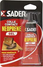 Colle néoprène contact gel Sader - Tube 55 ml