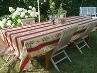 Tischdecke Provence 150x300 cm rot sand Oliven aus Frankreich, pflegeleicht