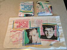 NEW KIDS ON THE BLOCK NKOTB Original 1990 Twin Bed Sheet SET Fitted/Flat/Case