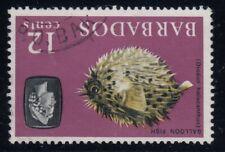 """Barbados, SG 329w, used """"Watermark Inverted"""" variety"""
