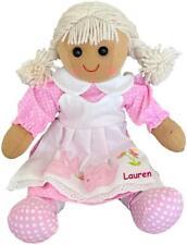 More details for personalised rag doll flower girl baby's 1st birthday christening christmas gift