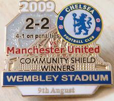 CHELSEA v MANCHESTER UNITED 09 Victory Pins COMMUNITY SHIELD Badge Danbury Mint