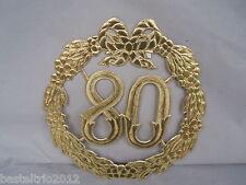Jubiläumszahl 80 Zahl gold Jubiläum Geburtstag Türdeko Krepprosen Jahrestag