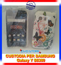 Custodia back cover case FANTASIA CERCHI FARFALLE per Samsung Galaxy Y S5360