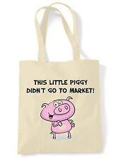 Este cerdito no ingresar al mercado Bolso para el Hombro-vegetariano vegano Veggie