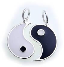Anhänger Ying Yang Silber 925 schwarz weiß Sterlingsilber Yin Yang Qualität