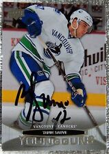 Vancouver Canucks Yann Sauve Signed 11/12 UD Young Guns Rookie Card Auto