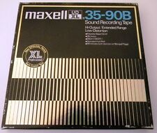 MAXELL UD XL 35 90B 740 M (2400 FT) SOUND RECORDING TAPE METAL REEL COIL BASF