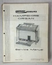 Original Seeburg Hampshire Organ Service Manual, S-1 and Deluxe
