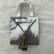 Disney Parks Kingdoms Castles Pinocchio in Cage Dangle Charm Necklace