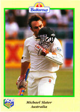 BUTTERCUP 1995 MICHAEL SLATER CARD kiss AUSTRALIA ACB Australian Cricket Board
