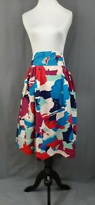 Emily and Fin Florence Skirt 1X Modcloth Far-Out and Fabulous Floral Pockets NWT