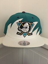 6cfda99e98cc2 Mitchell And Ness Anaheim Mighty Ducks Shark Tooth Black Teal White  Snapback Hat