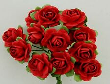 # 10 Medium Red Roses on stems by Green Tara