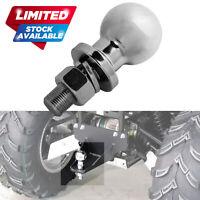 Chrome 19mm Tow Ball 50mm for ATV Quad Bike Trailer Tractor Mower Towball 50mm