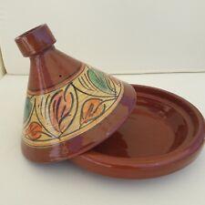 Plat a tajine tagine Marocain a7 cuisson terre cuite émaillé 30cm 5/6 personnes