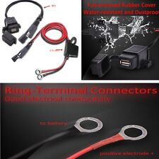 7.9'' SAE to USB Charger Adaptor w/Harness Kit Fuse For Halley Motorcycle 2.1A