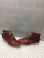 CAT 'Hester' Red Leather Lace Up Chukka Ankle Boots Women's Size 11