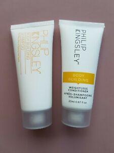 Philip Kingsley Body Building Shampoo Conditioner Travel Duo New! Luxury UK Hair