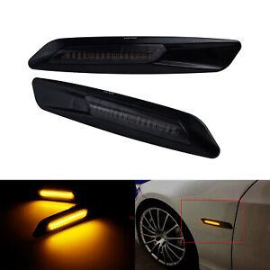 2x For BMW E60 E92 E88 E46 Canbus LED Side Marker Signal Light Indicator Amber
