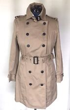 NEW MNG MANGO Basics Classic cotton trench coat, Size USA M/ EUR L