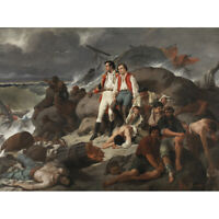 Cabot Battle Trafalgar Episode Shipwreck Painting Canvas Art Print Poster