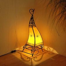 "Orientale Lampada Hennè Marocco Lampada in pelle "" CANAR "" GIALLO H58cm"