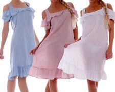 Knielange Damenkleider aus Leinen in Größe 38