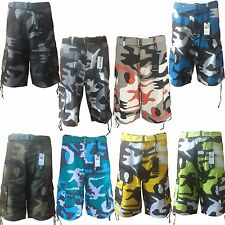 """Men's Army Camouflage Cargo Shorts and Solid Colors With Belt """"Free Shipping"""""""