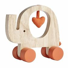 Natures Purest MY FIRST FRIEND Wooden ELEPHANT Push Along Toy For Baby
