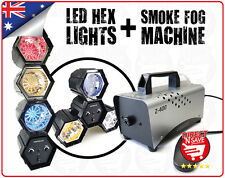 LED Hexagon Party Light w/ 47 Globe LED Lights + Smoke Fog Machine 400W Bundle
