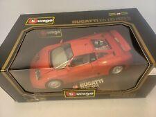 Burago 1991 Bugatti EB110 Die-cast 1:18 Scale #3055 Red