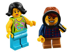 LEGO City x2 mini figures Adult and a Child MAGNIFYING GLASS 40237