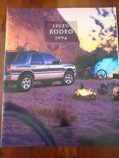 Isuzu Rodeo brochure 1996 USA market