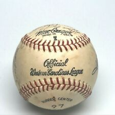 1973 Anderson Tigers Western Carolina League Souvenier Baseball Team Signed Vint