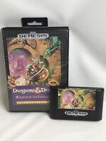 Dungeons & Dragons: Warriors of the Eternal Sun (Sega Genesis 1992) Case & Game