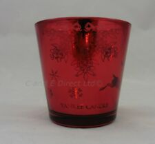 Yankee Candle Set of 2 Winter Christmas Design Red Reindeer Votive Holders NEW