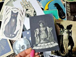 50 Vintage Gypsy Witch Spell Palmistry Fortune Telling Ephemera Scrapbook kits