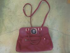 Longchamp Gatsby Leather Satchel hardware notch Burgundy crossbody/handles NEW