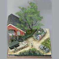 1/35 Dioramas Ruins House Models Kits Holz WW2 Militär Soldatin Haus Gebäude Kit
