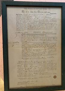 Vintage Bill  Of Sale Of Enrolled Vessel - 1851 - Original