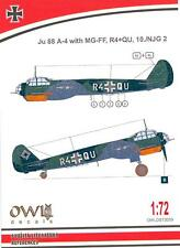 Owl Decals 1/72 JUNKERS Ju-88A-4 with MG-FF 10./NJG 2 Night Fighter