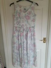 Laura Ashley Vintage Floral Dress Size 14 (fits 10-12)