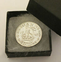 POLISHED SILVER SHILLING BOXED CHOOSE YOUR DATE 1920 TO 1946 BIRTHDAY PRESENT