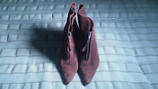 Manolo Blahnik Helli Chocolate Brown Suede Ankle Boots Bag Box EUR 38 US 7.5 EUC