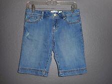 Old Navy Blue Denim Distressed Bermuda Jean Shorts Sz 12 PLUS  So Cool School