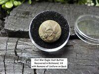 Old Rare Vintage Antique Civil War Relic Eagle Button with Remains of Uniform
