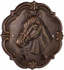 Wandbild - Pferde - 2 Kleiderhaken - Gusseisen -  Antik Look- Retro  NG-73