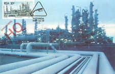 Picture Postcard>>South Africa Stamp, Oil Refinery?, Olie Uit Steenkool