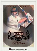 1996/97 Futera Cricket Decider 1st Day Steve Waugh Platinum SW1- 200 Runs-rare